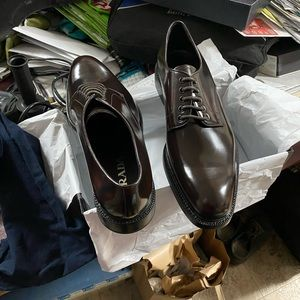 Authentic Prada Spazzolato Oxfords $790